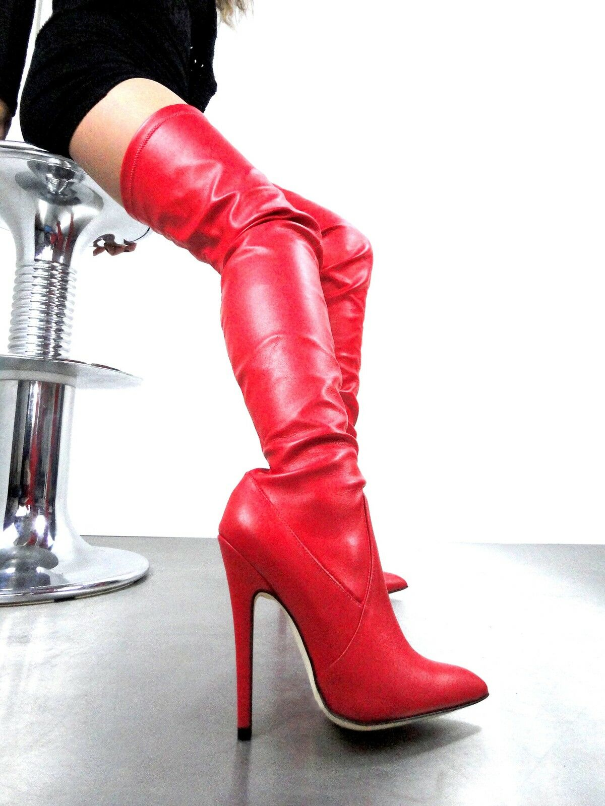 CQ STIEFEL COUTURE EXTREME OVERKNEE STIEFEL STIEFEL STIEFEL CQ STRETCH LEATHER ROT 40 b42baf