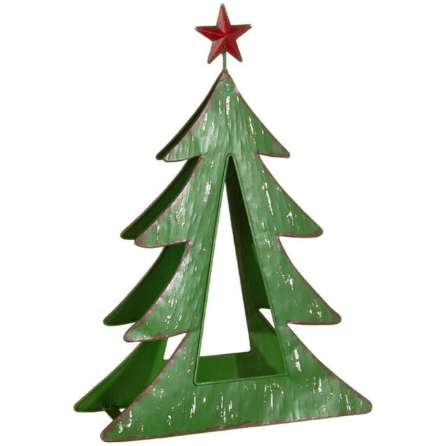 Christmas Tree Candle Holder.Metal Christmas Tree Candle Holder 16 Tall Country Primitive Iron Raz 3825919