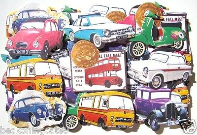 Retro Car London Bus Bike Vehicle Flake Sticker 56 pcs Scrapbook MIND WAVE JAPAN