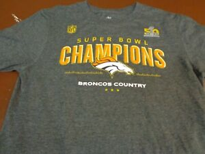 designer fashion d15de 4a54b Details about NFL Denver Broncos Football Super Bowl 50 T-Shirt ~ Youth  Medium 10-12 L17
