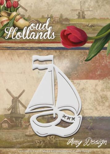 Stanzschablone von Amy Design ADD10049 Oud Holland Boot aus Holzschuh
