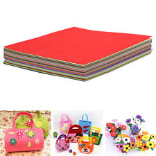 40PCS Rainbow Colorful Felt Sheets DIY Craft Polyester Fabric 30x30cm Hard