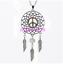 Butterfly Peace Sign verre Dreamcatcher Tibet Argent Zodiaque Collier