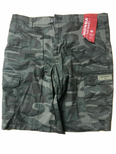 NEW Men/'s Unionbay Cargo Shorts Flex Waist Stretch Fabric Variety Utility
