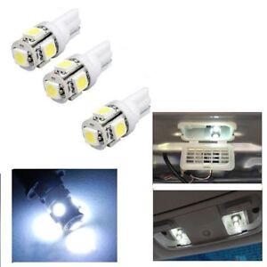 T10 5050 W5W 501 5 SMD LED Bulbs Car Interior Lights Side Lamp Wedge Capless