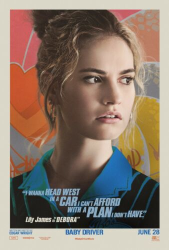 BABY DRIVER DEBORA CHARACTER POSTER A4 A3 A2 A1 CINEMA MOVIE LARGE FORMAT