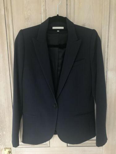 Sandro Size Condition Good Blazer 38 Navy Tailored HqrwH1