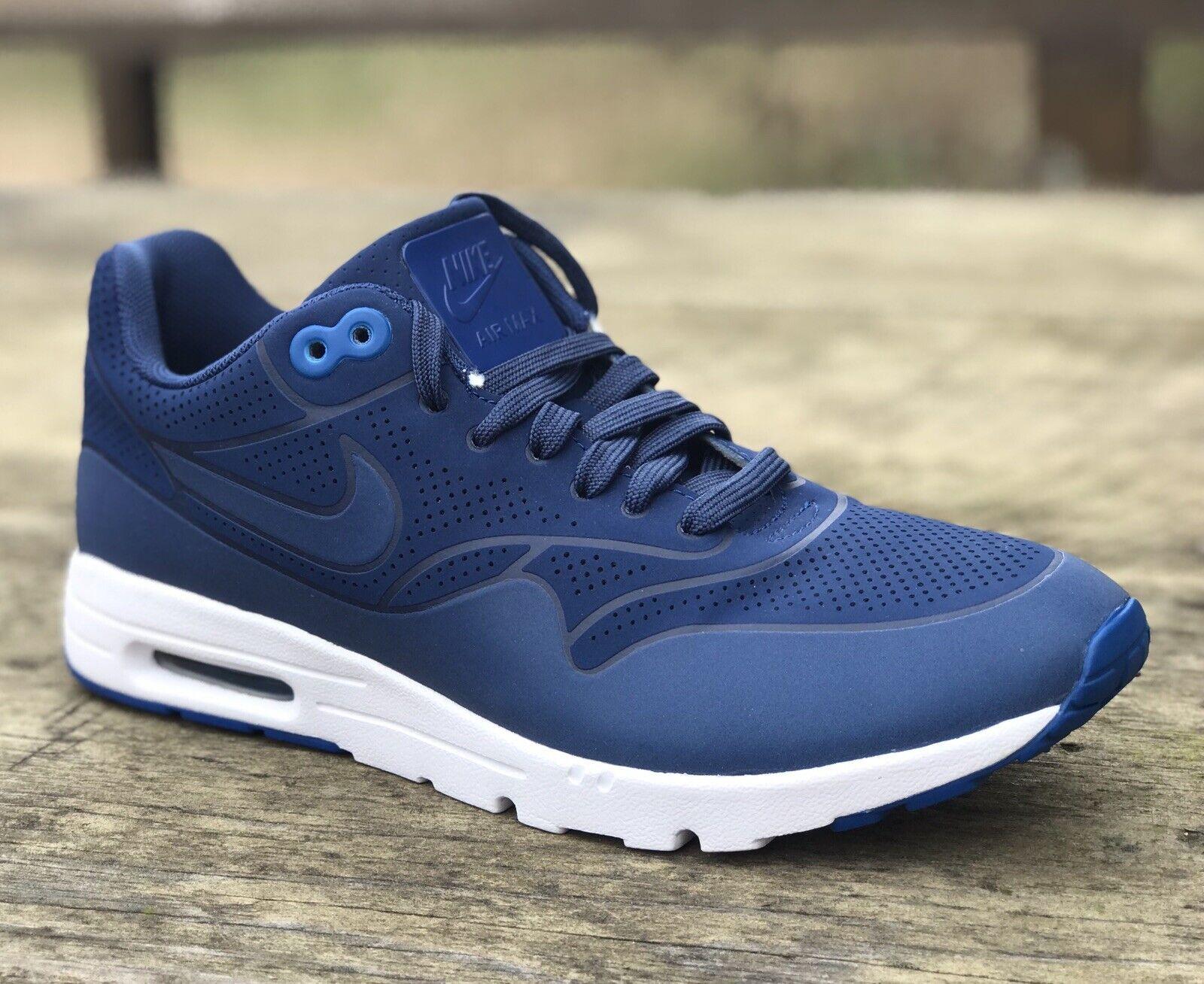 Nike Max 1 Ultra Moire Correr Air Zapato costeras Azul 704995-403 Mujeres Talla 7.5 Nuevo