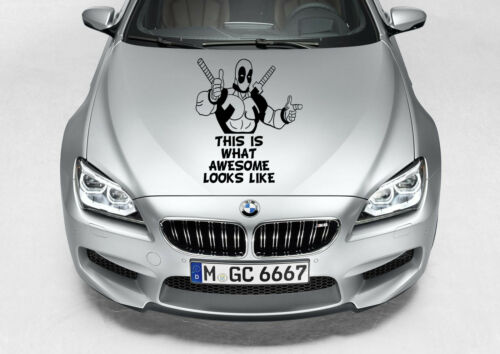 DEADPOOL CAR TRUCK DECAL GRAPHIC VINYL HOOD SIDE