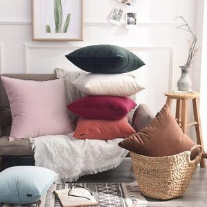 Soft-Velvet-Plain-Cushion-Cover-Euro-Vintage-Throw-Scatter-Pillow-Case-Home-Deco