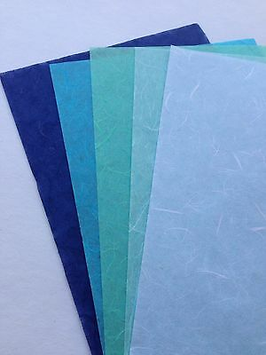 Blue Set 10 Sheets of  SAA MULBERRY Paper tissue paper- Wrapping, Card