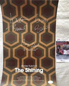 Danny-Lloyd-Lisa-amp-Louise-Burns-signed-autographed-Shining-mini-movie-poster-JSA