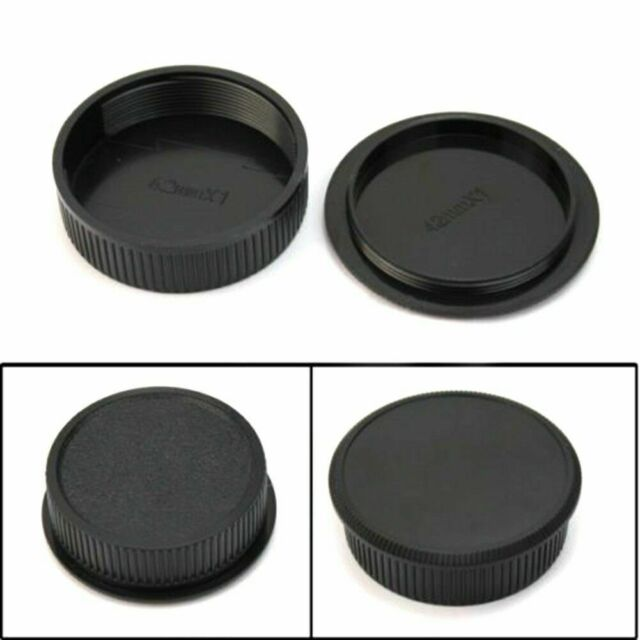 2x 42mm Plastic Front Rear Cap Cover For M42 Digital Lens Body S Camera and D6H8