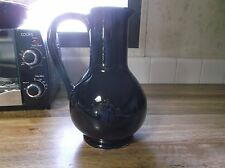Vintage McCoy Pottery Carafe Pitcher High Gloss Black Glaze *Very Nice*