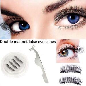 1cb96210223 4 PCS/2 Pairs 3D Double Magnetic EyeLashes Magnet Eye lashes ...