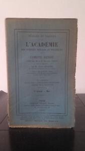 Sessioni E Lavoro Di ACCADEMIA Delle Sciences Morales E Politica - 1915 - N°3