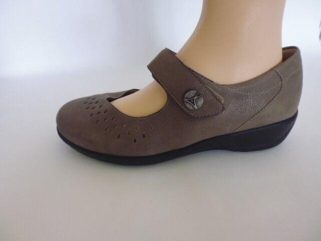 Scarpe Mocassini Sandali Velcro Slipper Pelle Goldkrone tg. 4 (37) W H