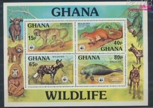 Never Hinged 1977 Animals 8777055 Sophisticated Technologies The Cheapest Price Ghana Block71 Unmounted Mint