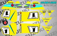 suzuki lt80 quad graphics stickers decals name-number lt 80 mx laminate purple