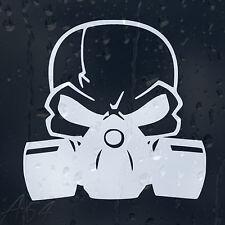 Skull Head In Gas Mask Car Or Laptop Decal Vinyl Sticker For Bumper Window Panel