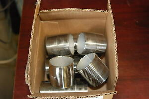 Merit Brass 4024-001,  1-1/2 X CL SCH 40 TYPE 304 SS NIPPLE, New lot of 10