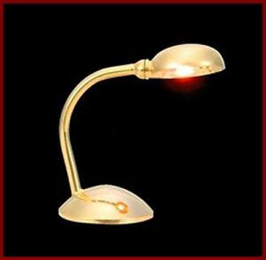 1:12 scale bureau lampe de table maison de poupées miniature lumières accessoire 1080  </span>