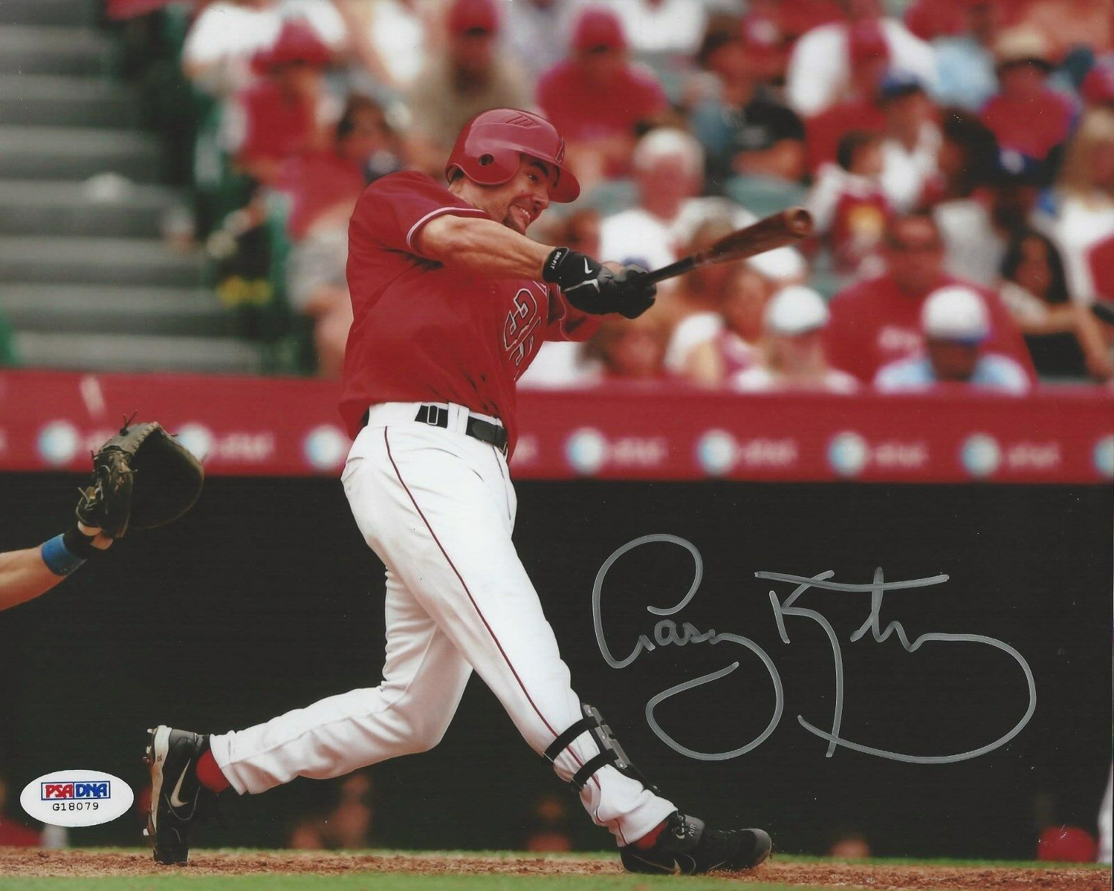 Casey Kotchman Anaheim Angels signed 8x10 PSA/DNA # G18079