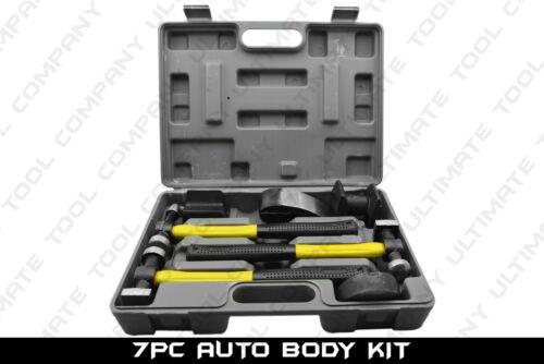 7 PC Fiberglass Auto Body Kit Dent Repair Quarter Panel Removal Hammer Mallet