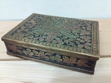 Antique Brass Cigarette Case Made in British India