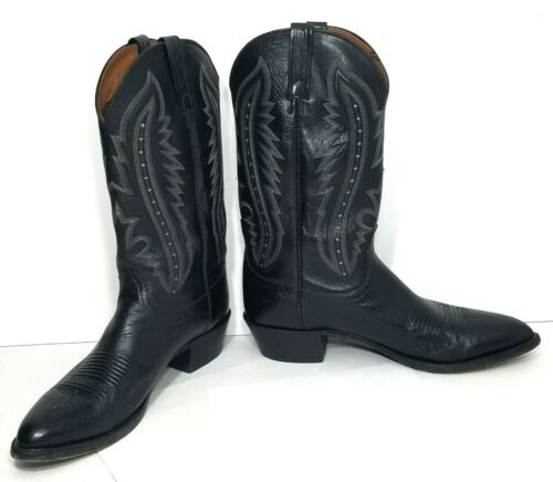 Lucchese Cowboy Boots Western Tall Boots Kangaroo