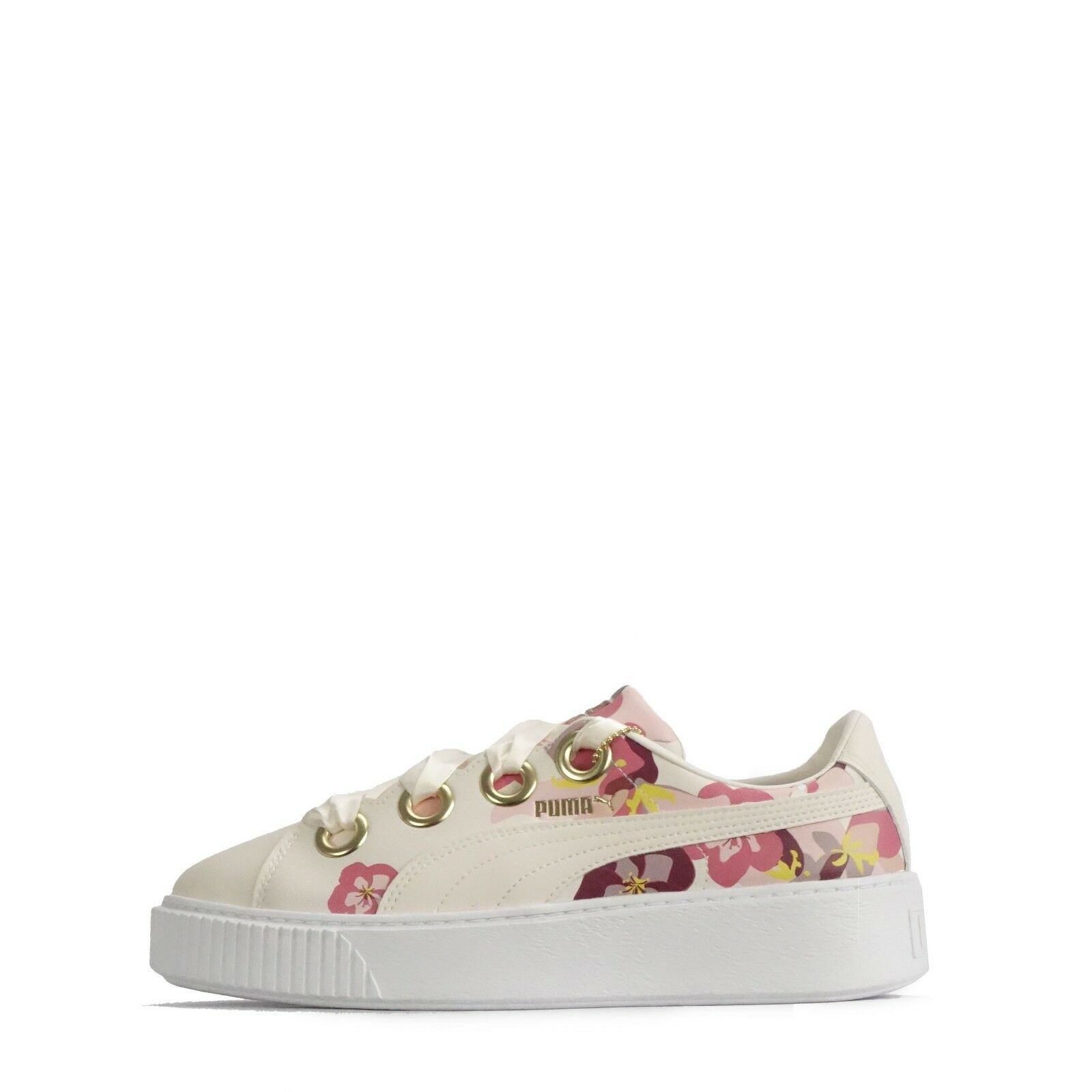 Puma Platform Kiss X Careaux Womens Trainers Powder Puff gold