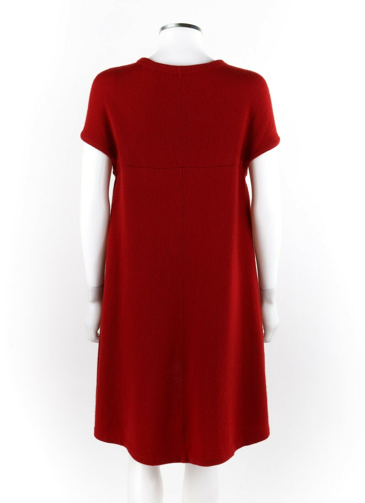 BALENCIAGA Ruby Red Knit High Low Cap Sleeve Mini… - image 3