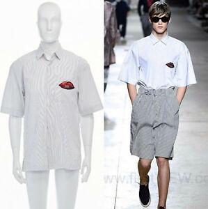 runway-DRIES-VAN-NOTEN-SS16-Cohen-sequin-embellished-stripe-cotton-shirt-top-S