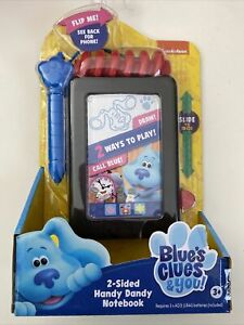 Blues Clues & You 2 Sided Handy Dandy Notebook New
