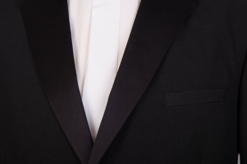 MENS NEW BLACK TIE DINNER TUXEDO TUX SINGLE BREASTED 2 BUTTON DRESS SUIT JACKET
