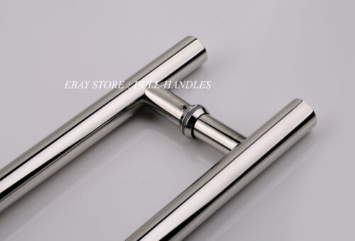"Entry Front Door 24/"" Long Commercial Door Pull Handle Stainless Steel Entry"