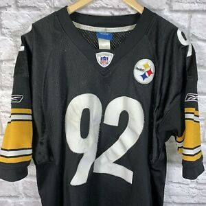 official photos 1f3ab 35ec3 Details about James Harrison Pittsburgh Steelers Jersey Size 50 Stitched  Reebok NFL Home