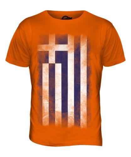 GREECE FADED FLAG MENS T-SHIRT TEE TOP HELLAS GREEK ELLADA HELLENIC GRECIAN