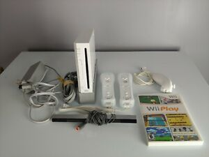 Nintendo Wii Gaming Console RVL-001 with Accessories and Wii Play Game