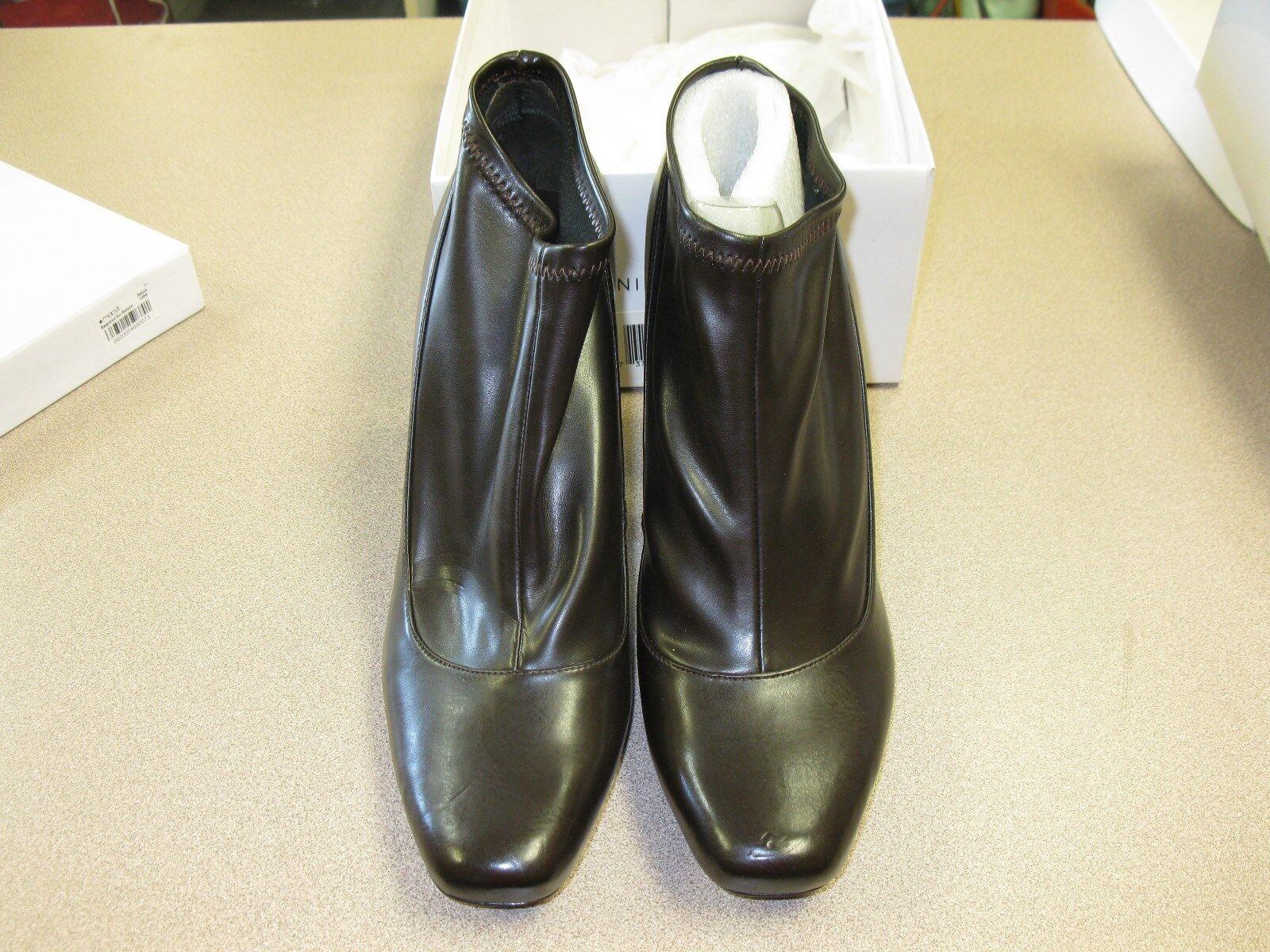 NIB NINE WEST Sophisto Womens Ankle Boot DARK BROWN 9.5M