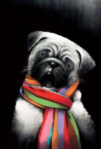 Doug-Hyde-SMALL-BUT-MIGHTY-MOUNTED-Pug-Art-Dutch-Bulldog-Mini-Mastiff-Chinese