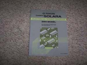 2004 toyota camry solara electrical wiring diagram manual. Black Bedroom Furniture Sets. Home Design Ideas