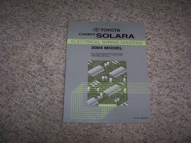 2004 Toyota Camry Solara Electrical Wiring Diagram Manual