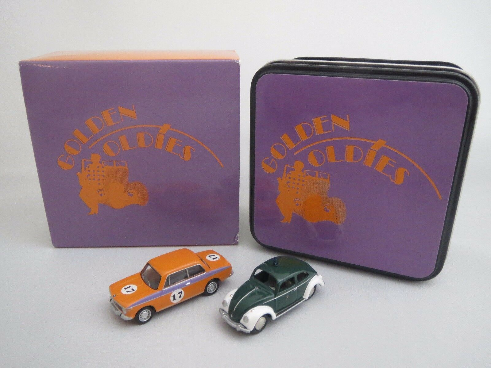 Bouèbe exclusivement-Set (oren Oldies) BMW 2002 & VW Beetle  2006  1 87 Neuf dans sa boîte