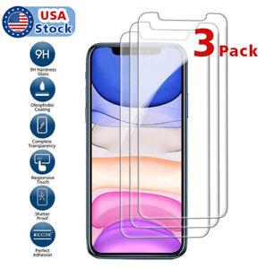3pack-Premium-Screen-Protector-Tempered-Glass-Film-iPhone-7-8-11-XS-Pro-Max-Plus