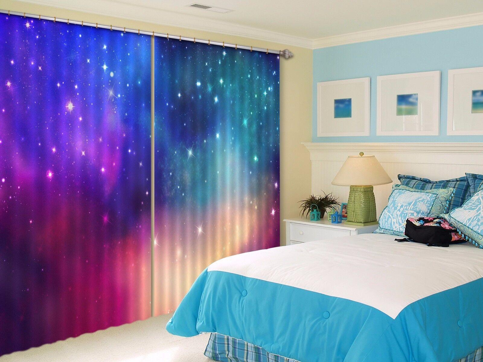 3d estrellas cielo 83 bloqueo foto cortina cortina de impresión sustancia cortinas de ventana