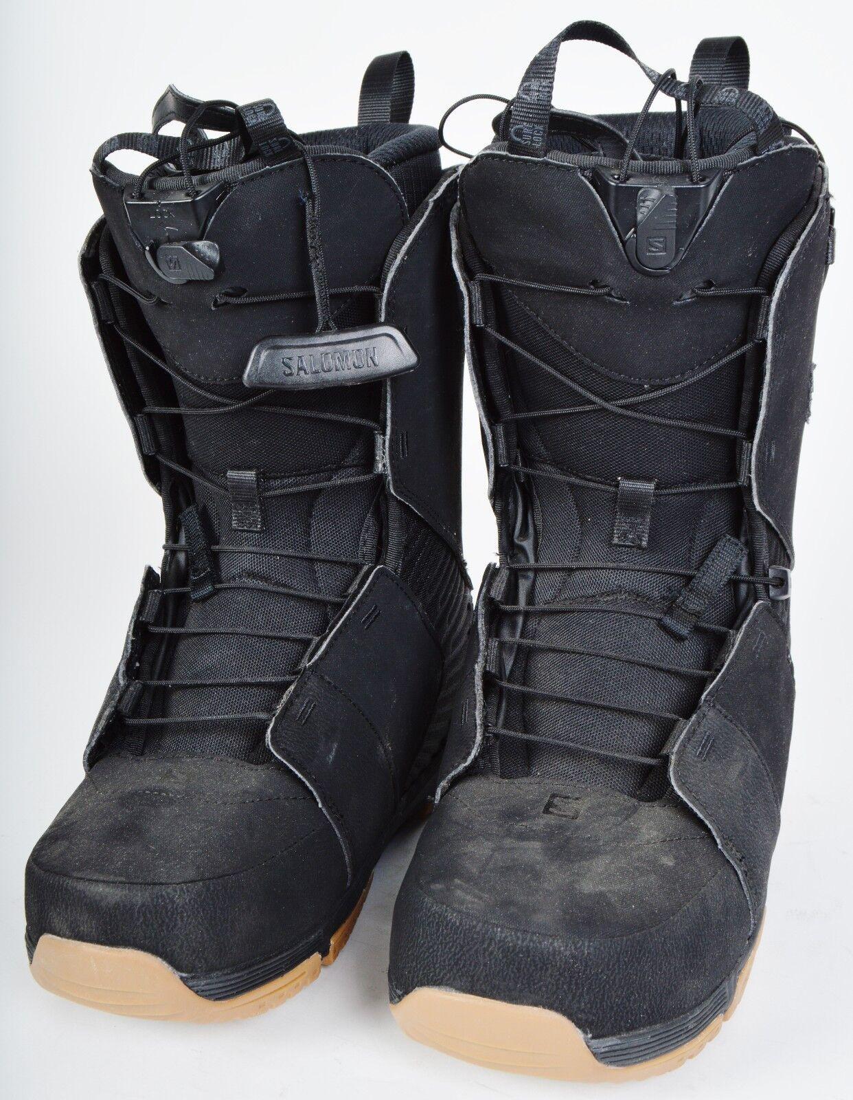 Details zu 2016 MENS SALOMON DIALOGUE SNOWBOARD BOOTS $260 8.5 Demo black zonelock lacing