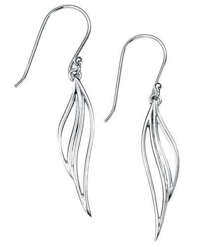 Open Leaf Drop Earrings