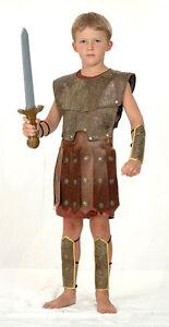 BOYS-CENTURIAN-ROMAN-WARRIOR-SOLDIER-GLADIATOR-FANCY-DRESS-COSTUME-OUTFIT-7-9-11
