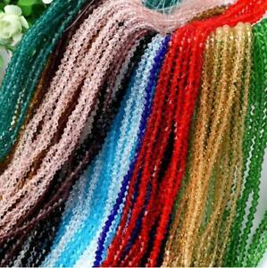Wholesale-50-1200-Pcs-4-6mm-swarovski-crystal-Glass-Bicone-Beads-U-Pick-colour